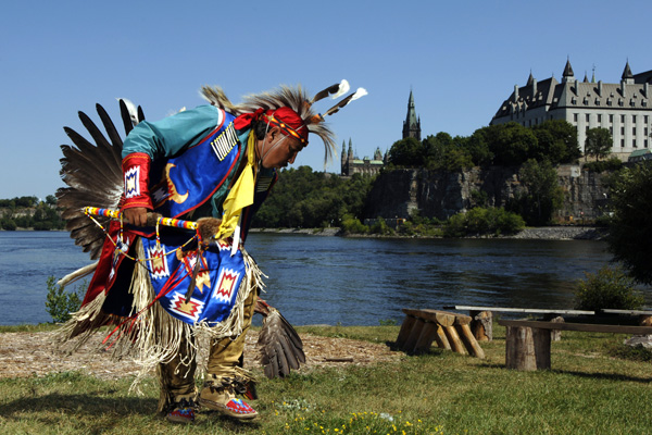 Native Canadian dancing
