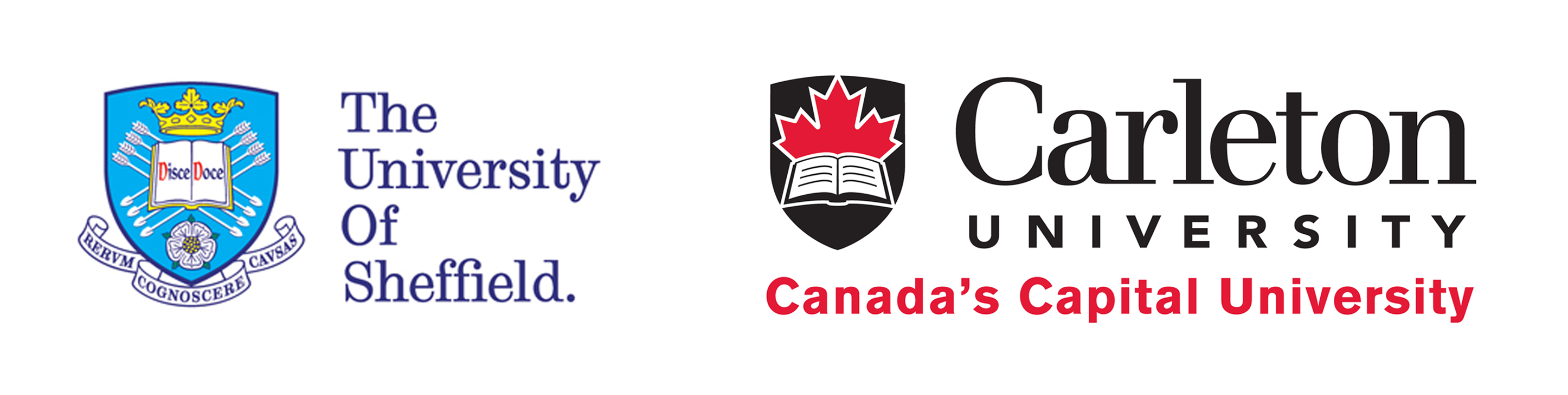 University of Sheffield and Carleton University logos